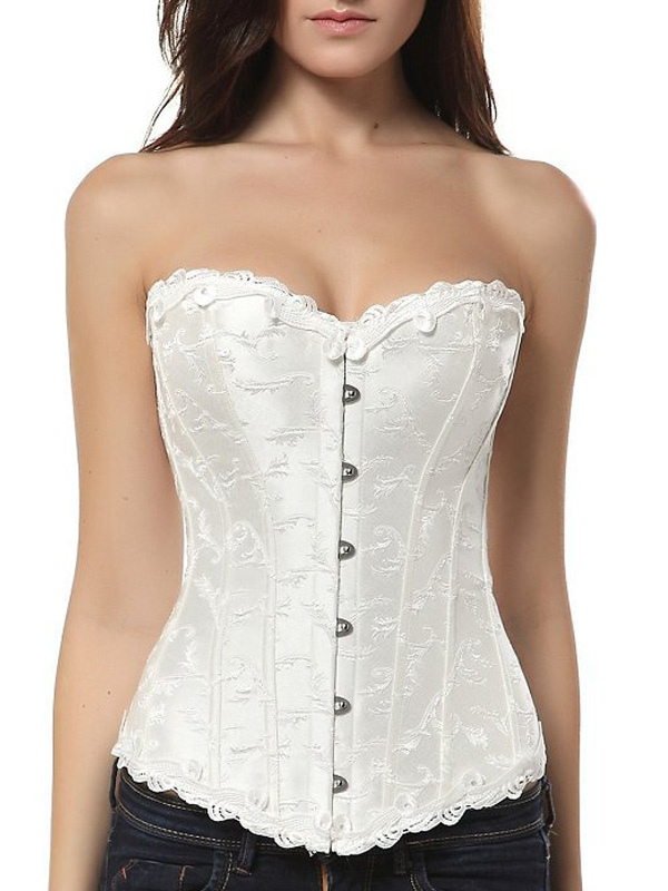 Buy Jacquard Overbust Bridal Corsets for $23.99 in Milanoo store
