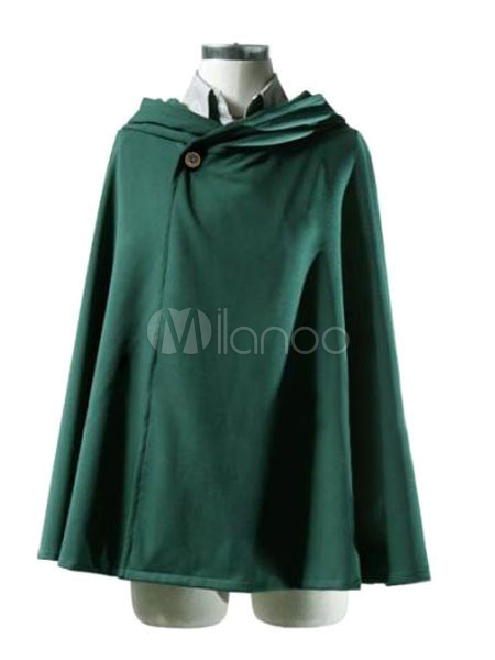 Buy Attack On Titan Rivaille Levi Cloak Halloween Cosplay Costume Shingeki no Kyojin Survey Corps Scout Regiment Cloak Halloween for $45.49 in Milanoo store