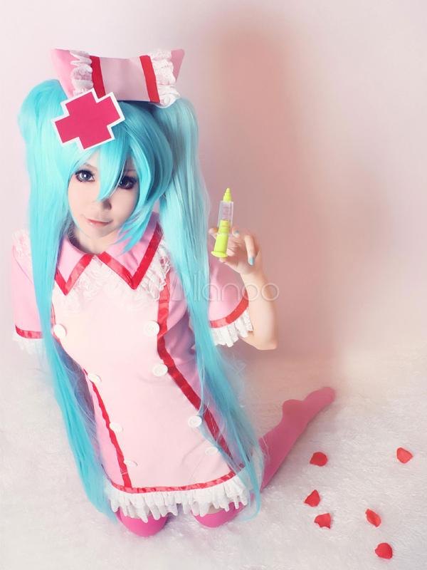 Vocaloid Miku Hatsune Cosplay Costume Nurse Version Halloween