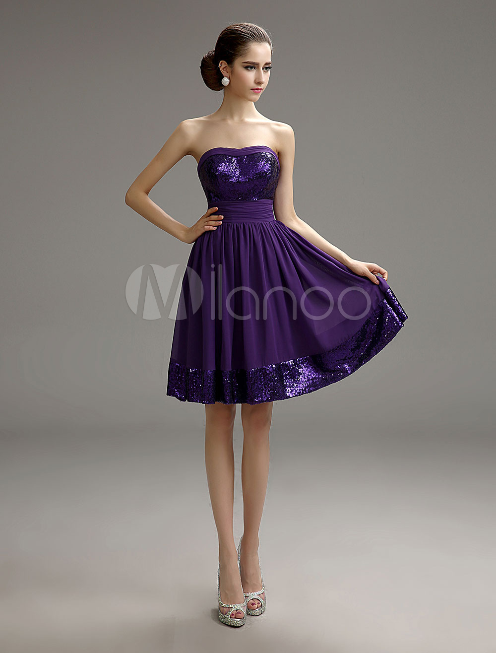 short ciffon dress