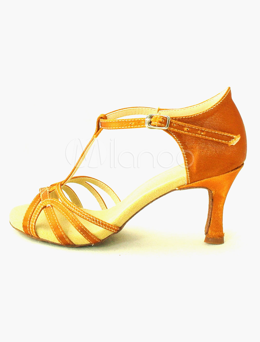 Zapatos sexy peep toe de bailes latinos de satén LKG2AMVeuF