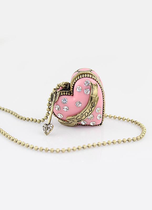 a6c4da924ccb Collar dorado con forma de corazón de estilo dulce - Milanoo.com