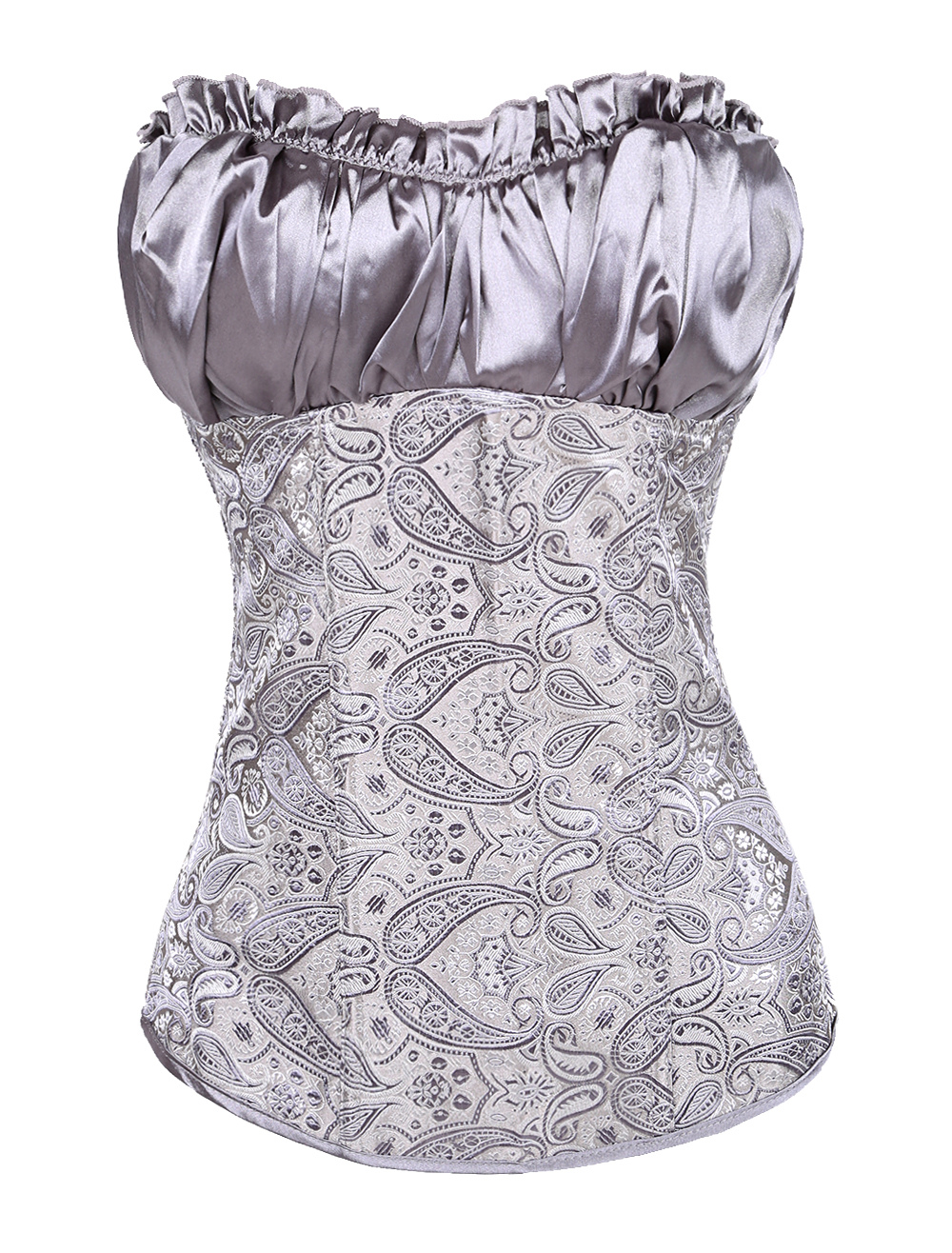 Ruched Jacquard Pleated Corsets