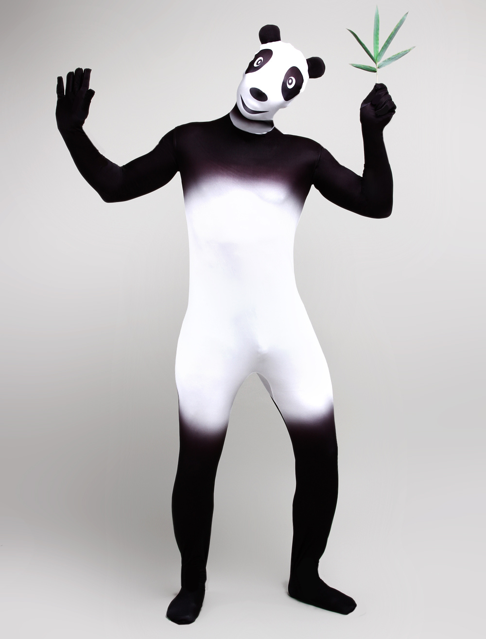 Halloween Black Panda Printed Zentai Suits Halloween