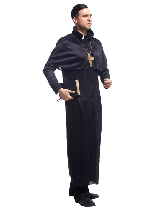 ハロウィン衣装 牧師 3点セット ...