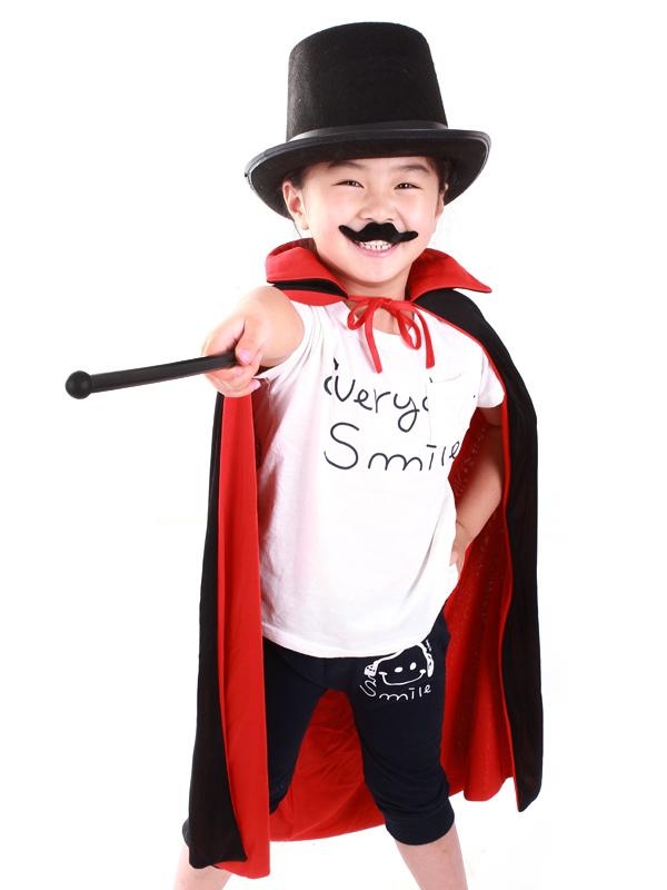 Black Halloween Boyu0027s Magician Costumes ( Poncho u0026 Hat u0026 Suit ) Halloween -No.  sc 1 st  Milanoo.com & Black Halloween Boyu0027s Magician Costumes ( Poncho u0026 Hat u0026 Suit ...
