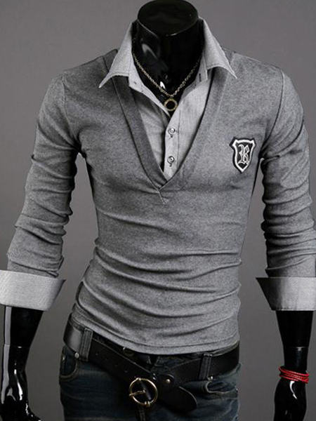 Two-Piece Polo Shirt With Turndown Neck
