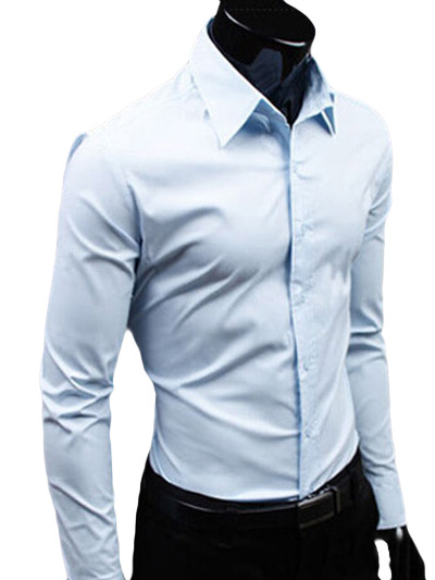 Spread Neck Shirt With Long Sleeves