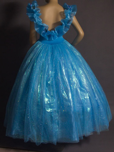 karneval cinderella kleid kind blaue prinzessin kost m. Black Bedroom Furniture Sets. Home Design Ideas