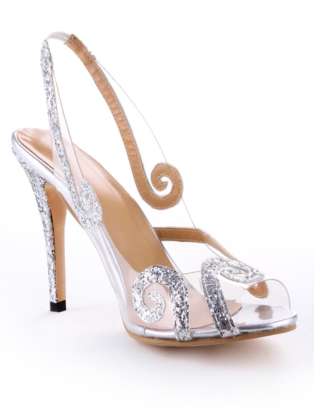 Chaussures à bout ouvert transparentes femme tFhdLXuq1e