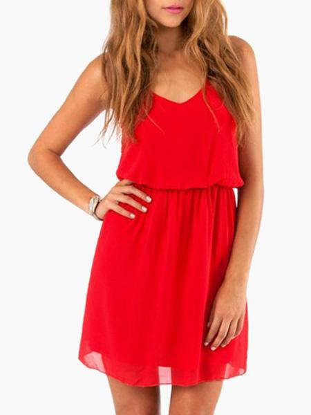 Straps Chiffon Summer Dress