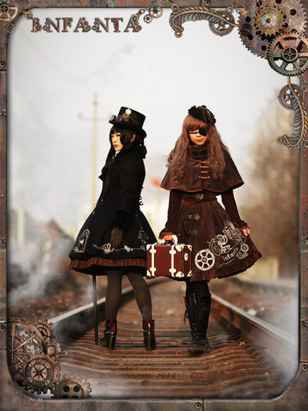 Buy Sweet Lolita Dress Reverse Timer Steampunk JSK Lolita Printed Jumper Dress Only Jumper Skirt Included for $115.19 in Milanoo store