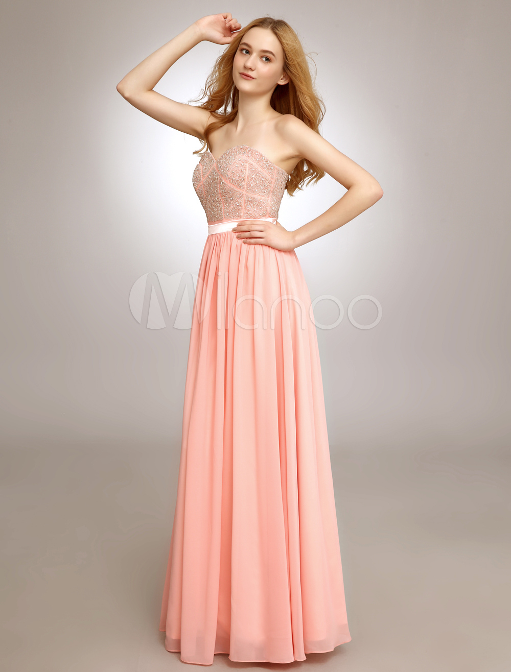 Sweetheart Prom Dress With Beading Chiffon