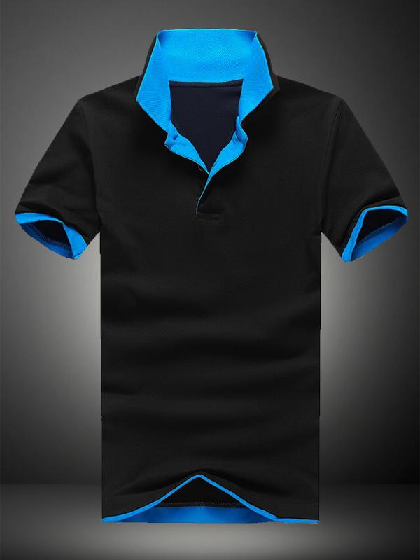 Short Sleeves Cotton Short Sleeves Polo Shirt