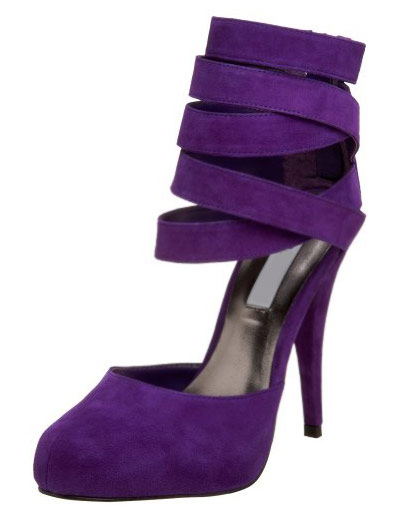 47892ced9c38 Suede High Heels Purple Almond Stiletto Heel Ankle Strap Pumps For Women  -No.1 ...