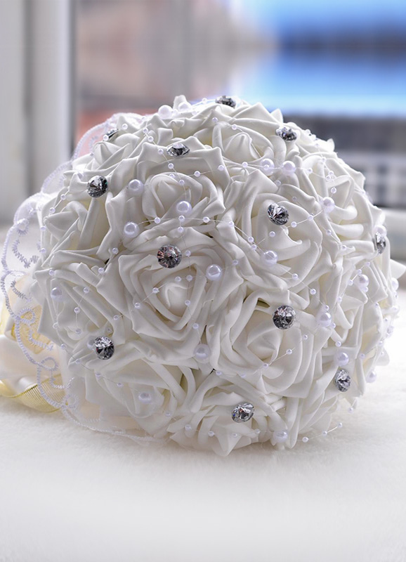 Rhinestone Pearl Chic Wedding Bouquet