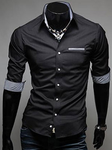 Half Sleeve Cotton Men's Casual Shirt