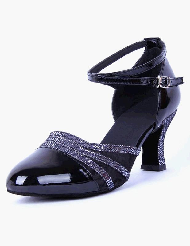 Zapatos Negro correa señaló Toe zapatos de la danza tBxEaCGY