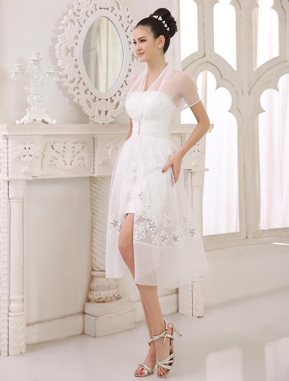 Largo vestido de novia para recepción - Milanoo.com