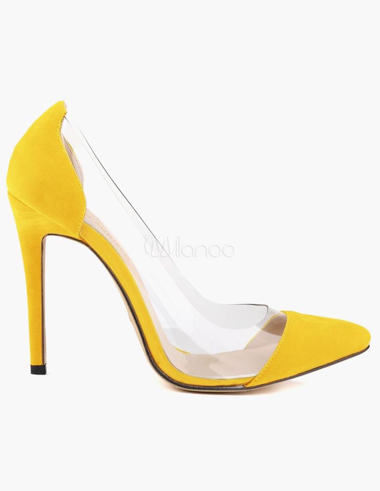 bffaa1d9d1d ... Women High Heels Suede Pointed Toe Slip On Pumps Rose Stiletto Heel  Dress Shoes-No ...