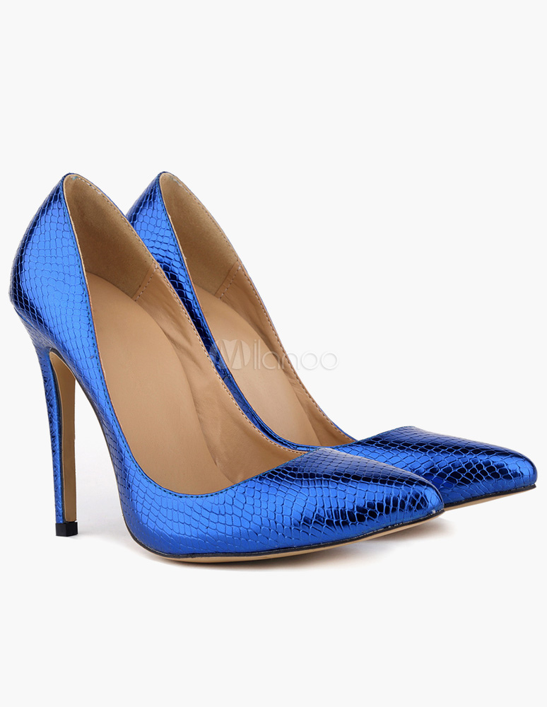 Buy Pretty Stiletto Heel Patent PU Woman's Pointy Toe Shoes for $38.24 in Milanoo store