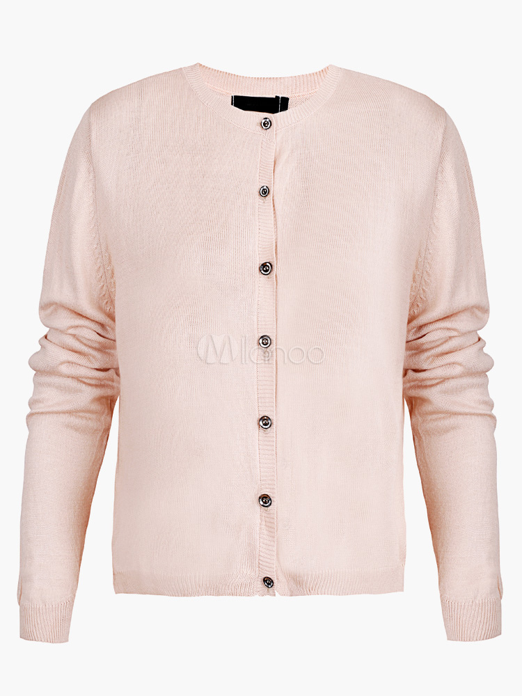 Crewneck Cardigans With Lace