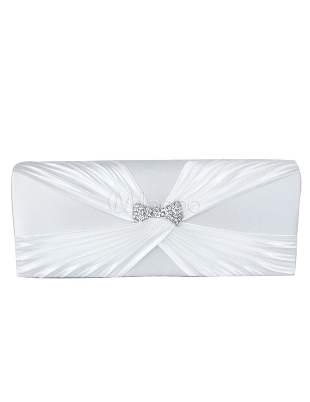 Elegant Knot Bow Silk Woman's Evening Bag