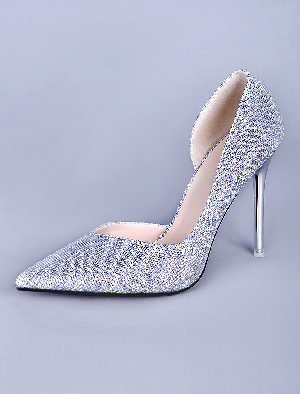 Zapatos puntiagudos de tela con lentejuelas de estilo - Zapateros de tela ...
