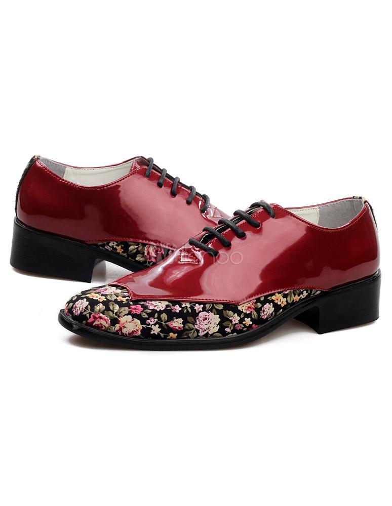e5cb88064e34 ... Men Dress Shoes 2019 Pointed Toe Antique Design Lace Up Patent PU  Leather Business Shoes- ...