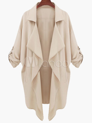 Drape Front Causal Coat