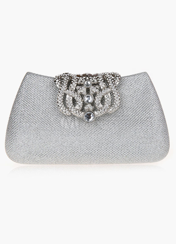 Elegant Polyester With Rhinestone Clutches