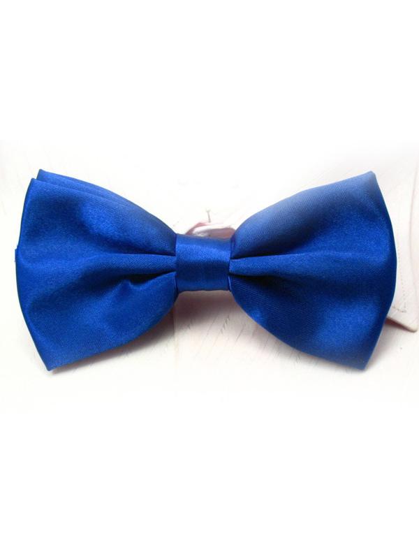 Elastic Silk Like Satin Bow Tie