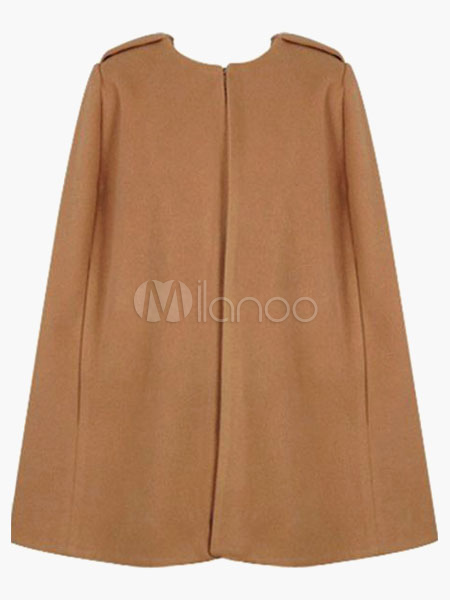 Women Coat Camel Cape Poncho Jacket Winter Coat For Women