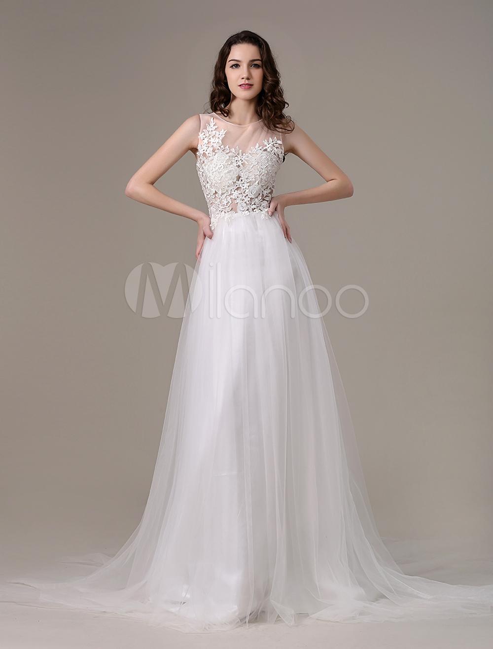 White Prom Dresses 2018 Long Ivory Princess Evening Dress Lace ...