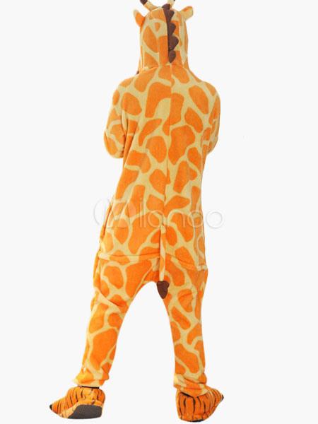 f10bf973ba ... Kigurumi Pajamas Giraffe Onesie For Adult Flannel Animal Couple Costume  Halloween-No.4 ...