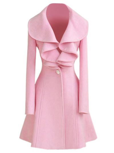 Trench Women Coat Pink Jacket Long Sleeve Women Overcoat Cheap clothes, free shipping worldwide