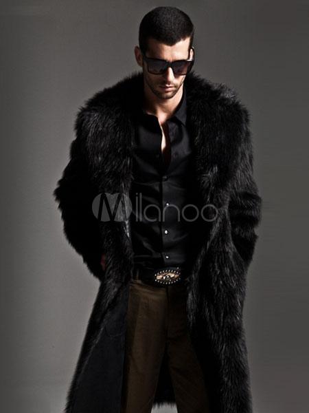 1beab06bd26d0 ... Men Faux Fur Coats Long Sleeve Oversized Collar Winter Coats-No.3 ...