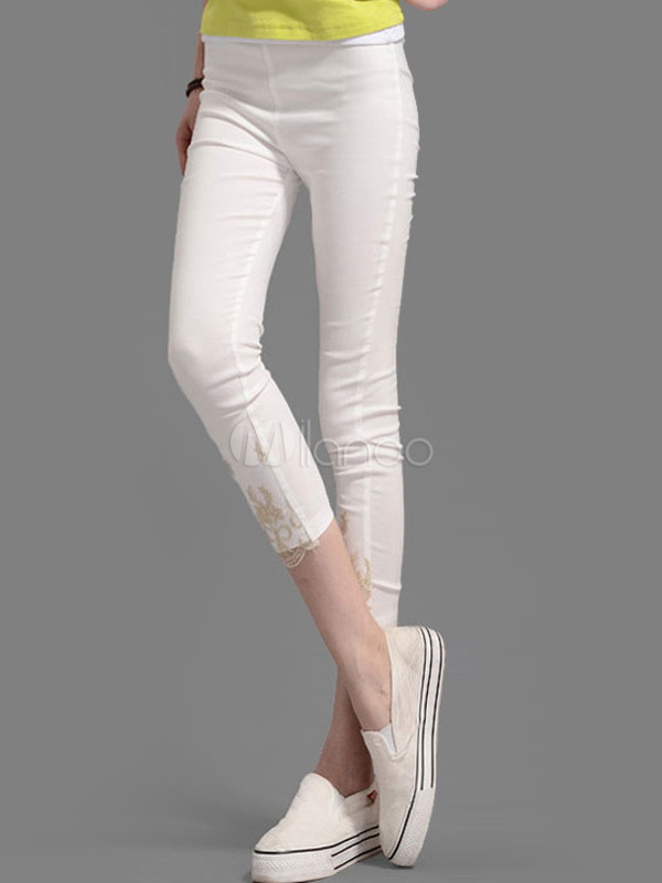 Skinny Cropped Lace Kegging Casual Pant