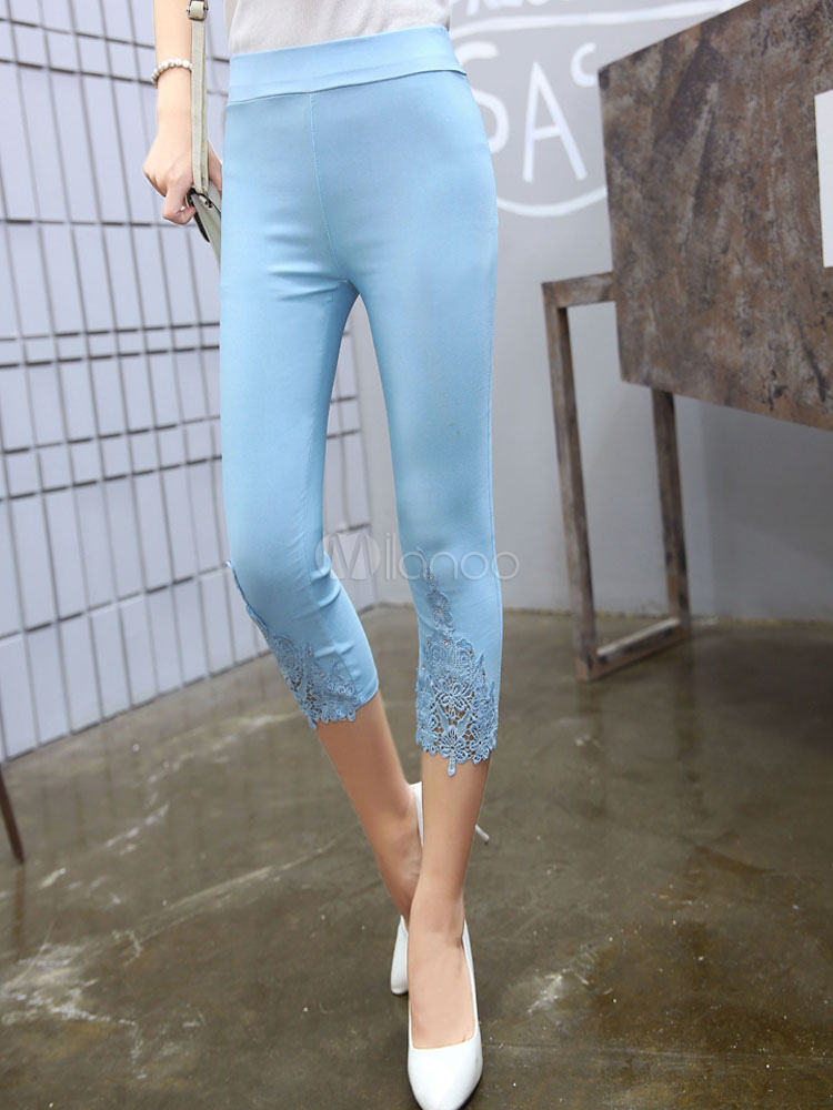 New Cropped Lace Legging For Women Cheap clothes, free shipping worldwide