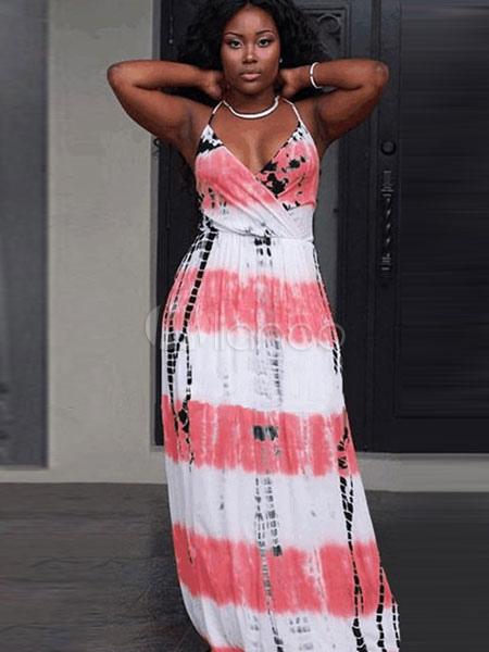 Halter Straps Cotton Dress Boho Beach Long Dress