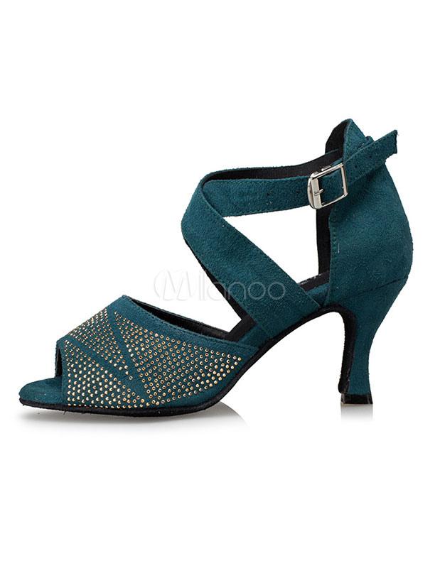 De las mujeres zapatos de diamantes de imitación Peep Toe zapatos de salón de baile eZ3whhJ