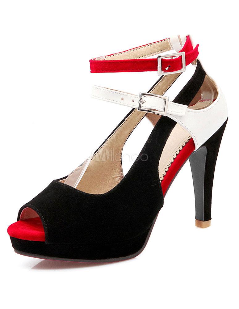 Zapatos de plataforma Peep Toe cerrados tacones x0mP2dx6D