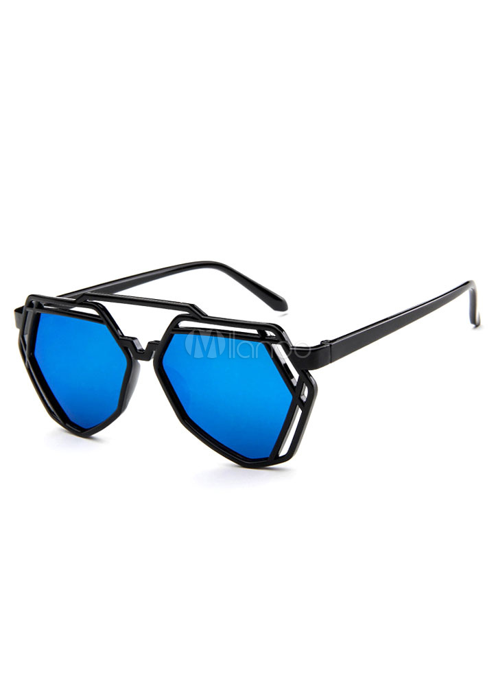 Geometric Colored Lens Glasses Cheap clothes, free shipping worldwide