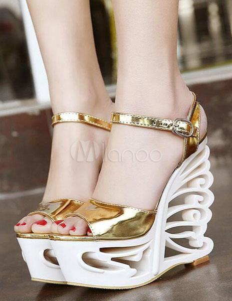 Oeep Toe Especial De Sandalias Sexy Plataforma Forma Cortes En WD9YEH2I