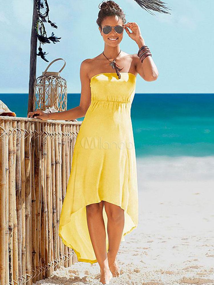 Vestidos largos de verano strapless