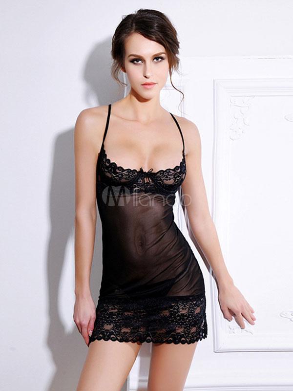 l'atteggiamento migliore bc2c1 3514a Lingerie di pizzo Sexy Babydoll camicia da notte Slip trasparenti