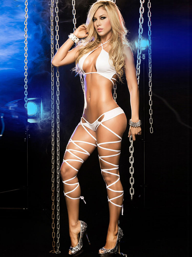 Sexy Halter Bra And Panties Sets Black/white Club Wear Cheap clothes, free shipping worldwide