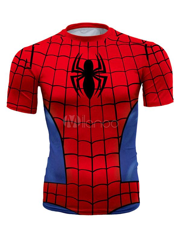 Spider Man 3D Print T Shirt For Men Short Sleeves