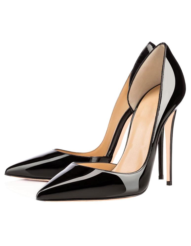 Zapatos de vestir negros de tacones altos Zapatos de vestir de punta estrecha en las bombas 1qVG5