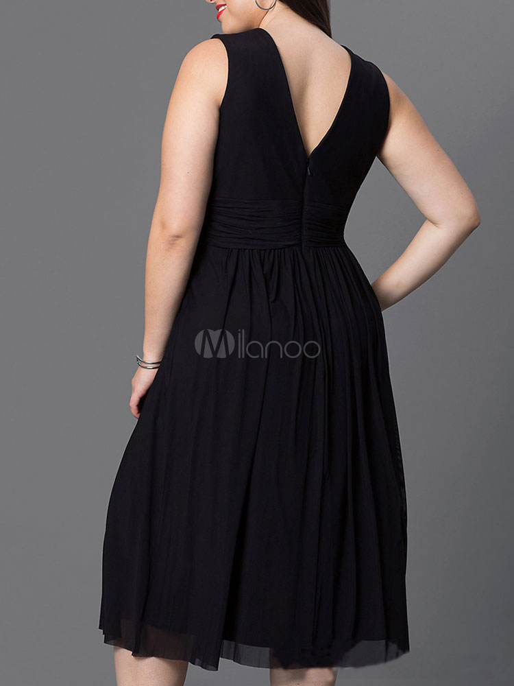 robe longue en spandex unicolore pliss col v. Black Bedroom Furniture Sets. Home Design Ideas